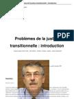 Problèmes de la justice transitionnelle