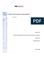 A Study of the European Cosmetics Industry
