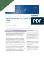 Magic Quadrant for the IT Service Desk