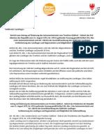 Verkleinerung des Landtages - Antrag der BürgerUnion auf Änderung des Autonomiestatuts