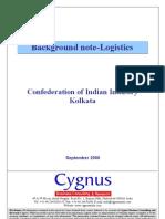 White Paper on CII Conf on Logistics -Kolkata 80906