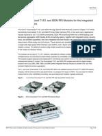 Cisco Hwic Channelized t1 e1 Isdh Pri Modules