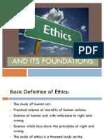 Foundation of Ethics