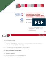 BAROMETRE DE LA PERCEPTION DES DISCRIMINATIONS AU TRAVAIL
