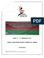 Policy Advocacy and Engagement (IWP-OSI) Training Narrative Report for Women Groups-Liberia (February , 2011)