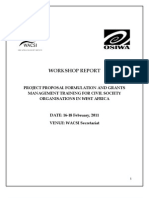 Project Proposal Formulation and Grants Management Training Narrative Report ( Feb, 2011)