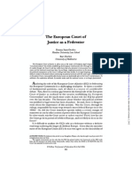 The European Court of Justice as a Federator