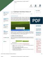 Tips Menghilangkan Kode Aktivasi Windows XP