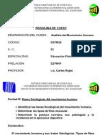 Unidad III Bases Fisiologicas Del Movimiento Humano