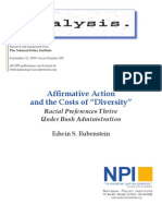 Cost of Affirmative Action