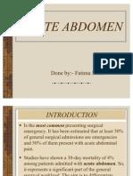 Acute Abdomen Pe