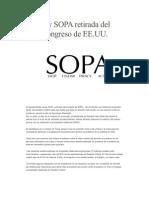 Ley SOPA Retirada Del Congreso de EE
