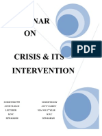 Crisis & Its Intervention