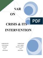 Crisis & Its Intervention