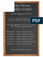 Billy's Events February 2012
