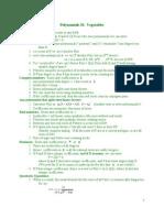 Polynomials Oct 7