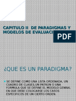 Capitulo II de Paradigm As y Modelos de Evaluacion