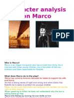 Character Analysis on Marco
