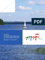 On Territorial Dimension of Development Policies (2011)