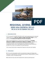 BASES TORNEO Regional Juvenil SUR - Ilo