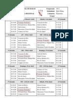 Borrador Calendario liga femenina 2012