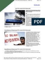 Why Retail Fdi Will Kill Jobs