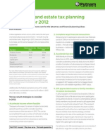 Ten income and estate tax planning strategies for 2012