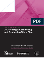 Monitoring and Evaluation of Work Plans