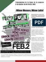 Bulletin d'information de la LJCQ Février 2012