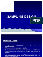Rm - Sampling Design