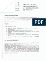 Organizacion, Administracion y Automatizacion de Oficinas Capitulo 1
