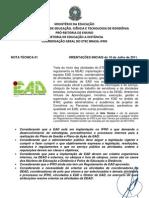 01- NOTA TÉCNICA -DEAD- Orientações Gerais- 05-08-2011