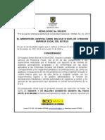 Resolucion de Apertura SPO-01-2012