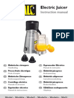 Profi Juicer Manual 10 Languages