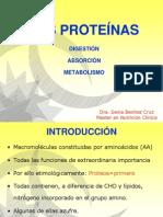 CLASE N° 4 DIGESTIÓN, ABSORCIÓN Y METABOLISMO DE LAS PROTEÍNAS