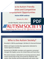 The Autism Society of America Webinar with Autism NOW January 31, 2012