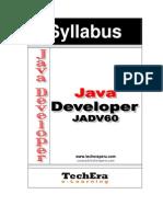 Syllabus Java Developer v60
