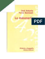 Ferrer Benimeli. La Masonería