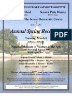 Annual Spring Reception for Democratic Senatorial Campaign Committee