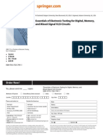 Essentials of Electronic Testing for Digital, Memory,
