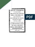 Aragon Marques de Villena Enrique de - Arte Cisoria (1423)