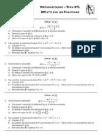 DM n°1 - Fonctions - Term STL (11-12)