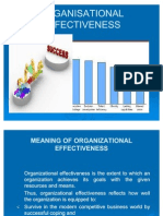 Organisational Effectiveness