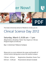 Duke School of Medicine | Clinical Science Day | March 3, 2012