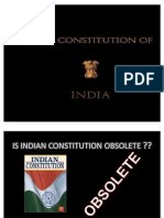 Constitution of India is Not Obsolete