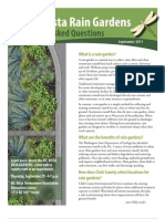 Rain Gardens Frequently Asked Questions, Mount Vista, CLARK COUNTY