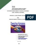 Grupo 1 Derechos Humanos y Desarrollo Sostenible