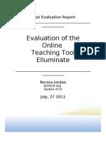 EDTECH 505 Jordan Final Evaluation of ate