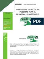 Propuesta Politica Publicas Nacional para el desarrollo sostenible segun Agenda 21(Grupo 1 Doctorado EUPG)