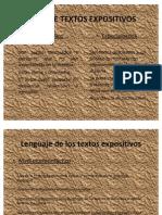 Lenguaje texto expositivo